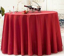 L&Y Präsidenten Casual Dining Tischdecke, Hotel Tischdecke, Red Round Tischdecke ( größe : 78.74inch )