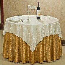 L&Y Primäre Casual Dining Tischdecke, Hotel Tischdecke, Runde Tischdecke Anzüge ( größe : 118.11inch )