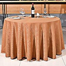 L&Y Primary Hotel Tischdecke Europäische Restaurant Kaffee Tischdecke Camping Tischdecke Rechteck 180 * 180CM (70.86 * 70.86inch) ( Farbe : Braun )
