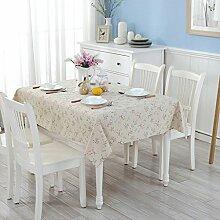 L&Y Rechteckig, Leinen Cotton Tischdecken, Farbe Tischtuch Tischtuch Handtuch ( größe : S )