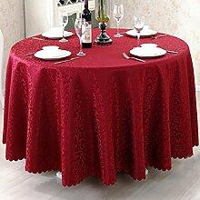 L&Y Red Hotel Tischdecke Party Tischdecken Runde Tischdecke Haushalt Bankett Couchtisch Treffen Europäischen Restaurant Tischdecke Tischdecken Tischdecke ( größe : D300 cm )