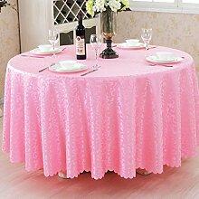 L&Y Rosa Hotel Tischdecke Party Tischdecken Runde Tischdecke Haushalt Bankett Couchtisch Treffen Europäischen Restaurant Tischdecke Tischdecken Tischdecke ( größe : D260 cm )