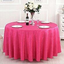 L&Y Runder Tisch Tischdecke, Restaurant Tischtuch, Polyester-Faser-Tischdecke, rechteckig, 120 * 160CM ( Farbe : Pink )