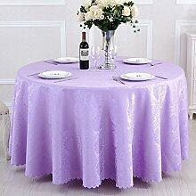 L&Y Runder Tisch Tischtuch, Restaurant Restaurant Tischdecke, Polyesterfaser Tischdecke, quadratisch, 140 * 140CM ( Farbe : Licht violett )