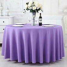 L&Y Tischdecke Tisch Tischdecke ( Farbe : Q Purple , größe : 240CM )