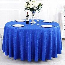 L&Y Tischdecken / Tischdecke Restaurant Tischdecken Hotel Tischdecken runde Tischdecken Tischdecken Europäische Konferenz Textur Kaffee Tischtuch Tisch Röcke runder Tisch von High-Density-Jacquard-Gewebe Durchmesser 180CM-300CM ( Farbe : F , größe : Diameter 300 )