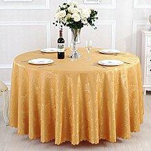L&Y Tischdecken / Tischdecke Restaurant Tischdecken Hotel Tischdecken runde Tischdecken Tischdecken Europäische Konferenz Textur Kaffee Tischtuch Tisch Röcke runder Tisch von High-Density-Jacquard-Gewebe Durchmesser 180CM-300CM ( Farbe : A , größe : Diameter 240 )