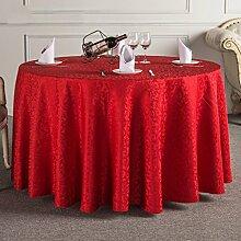 L&Y Tischdecken / Tischdecke Restaurant Tischdecken Hotel Tischdecken Runde Tischdecken Tischdecken Couchtisch Konferenztischtuch Tischdecken Solider Runder Tisch Tisch Röcke Mit Hohen Dichte Jacquard-Gewebe Durchmesser 160cm-340cm ( Farbe : D , größe : Diameter 300 )