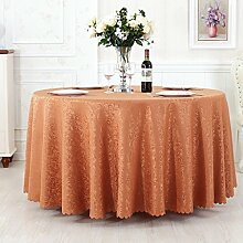 L&Y Tischdecken / Tischdecke Restaurant Tischdecken Hotel Tischdecken runde Tischdecken Tapete europäische minimalistischer Textur Kaffee Tischtuch Tisch Röcke runde Tisch Durchmesser 180CM-360CM Polyestergewebe ( Farbe : D , größe : Diameter 300 )