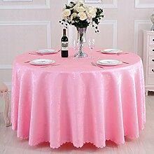 L&Y Tischdecken / Tischdecke Restaurant Tischdecken Hotel Tischdecken runde Tischdecken Tischdecken Europäische Konferenz Textur Kaffee Tischtuch Tisch Röcke runder Tisch von High-Density-Jacquard-Gewebe Durchmesser 180CM-300CM ( Farbe : D , größe : Diameter 300 )