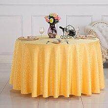 L&Y Tischdecken / Tischdecke Restaurant Tischdecken Hotel Tischdecken Runde Tischdecken Tischdecken Couchtisch Konferenztischtuch Tischdecken Solider Runder Tisch Tisch Röcke Mit Hohen Dichte Jacquard-Gewebe Durchmesser 160cm-340cm ( Farbe : A , größe : Diameter 280 )