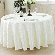 L&Y Weiß Hotel Tischdecke Party Tischdecken Runde Tischdecke Haushalt Bankett Couchtisch Treffen Europäischen Restaurant Tischdecke Tischdecken Tischdecke ( größe : D160 cm )