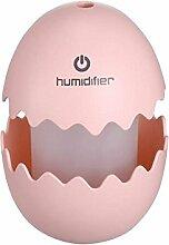 L@YC B¨¹ro Haus Schreibtisch Lampe Led Multicolor Licht Touch Fun Egg Mini USB Luftbefeuchter Mute , pink , 8*8*12cm
