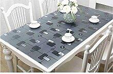 L&Zr Tischdecke Transparent Wasserdicht PVC 3mm