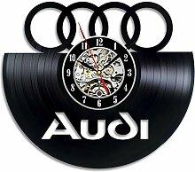 La Bella Casa Audi Logo Wanduhr, Vinyl,