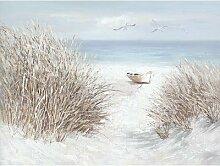 La Casa »Boot am Strand« Ölbild handbemalt