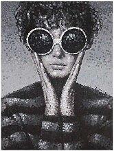 La Casa Ölbild Frau mit Sonnenbrille 90x120cm