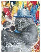La Casa Ölbild Grafitti »Gorilla mit Hut«