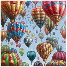 La Casa Ölbild Heißluftballons 115x115cm