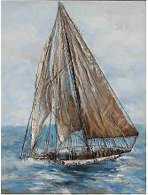 La Casa Ölbild Segelboot I 90x120cm