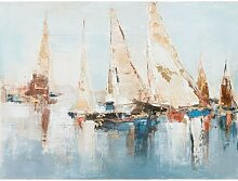 La Casa »Segelboote abstrakt« Ölbild handbemalt
