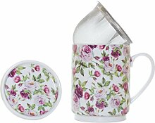 La Cija Rose Garden-Teetassenset aus