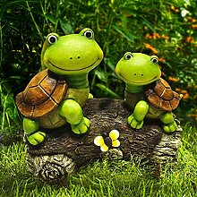 La Jolie Muse Garten-Statue im Figuren Turtles auf
