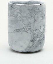 LA LA BATHROOM Halter & Spender Sanitär Serie retro spülen Cup natürliche Marmor Schüssel zugeben Schale spülen cup Bürstenhalter