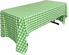 La-Leinen Gingham Tischdecke rechteckig mit,