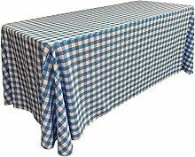 La Leinen Poly Karierten Tischdecke, rechteckig,