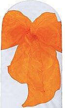 La Leinen Sheer Spiegel Organza Schleife Schärpen, Polyester, Polyester, Orange, 20.32 x 274.32 x 0.022 cm