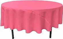 La Leinen Tischdecke rund, 229cm, Polyester, hot pink, 228.5 x 228.5 x 0.04 cm