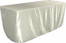 LA Linen Satin-Tischdecke für Brautjungfern, 240