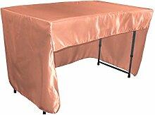 LA Linen Satin-Tischdecke mit offener Rückseite,