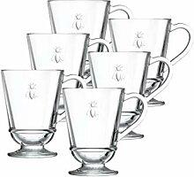 La Rochere 6388.01_ 482Kaffeetassen, Glas, klar