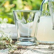 La Rochere 6X5132 Honigbiene Wasserglas, Kalk-Soda