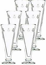 La Rochere Bee Champagner Glas Set/6