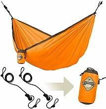LA SIESTA - Colibri Orange - Einzel-Reisehängematte inkl. Befestigung