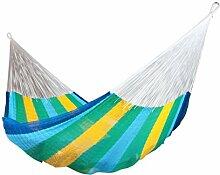 La Siesta Hängematte MEXICANA Farbe Canaria Familienhängematte MXH24-8 Hängematte inkl. Befestigungsset Universal Rope
