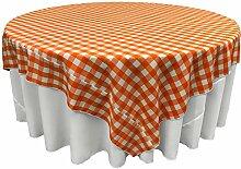 LA Tischdecke, quadratisch, Leinen orange/weiß