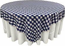 LA Tischdecke, quadratisch, Leinen Royal/Weiß