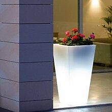 La Vida en Led – Beleuchteter Blumentopf oder Eiskübel, helles LED-Licht, RGB-Farben, wiederaufladbar