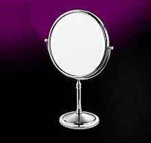 LaaLaa Hotel & Home Badezimmer alle Bronze 8 Zoll Desktop Kosmetikspiegel 360 Grad Drehspiegel Polished Chrome Finish