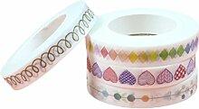 LAAT Farbige Band Masking Tape Dekorative DIY Tape