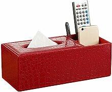 LAAT PU Leder Serviettenhalter Tissue Box Cover