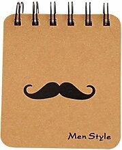 LAAT Tragbares Notizbuch Mini Memo Notizblock Cute