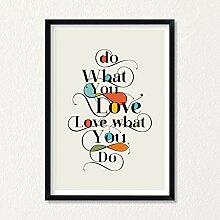 LAB NO 4 Do What You Love Inspirational Print