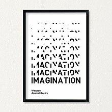 LAB NO 4 Imagination Inspirational Print Poster |