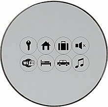 Label for NFC metal round fridge magne
