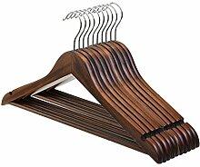 Labellevie 10 Stk Kleiderbügel aus Holz mit Kerben